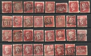 PENNY RED PLATES with EDINBURGH CANCELS