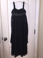 Ruby Rox Girls Junior 10 Black Long Dress Flowers Orchestra Uniform Used 2 Times