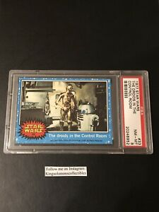 1977 Topps Star Wars 1st Series  #33 Droids In The Control Room Card PSA 8 NM-MT