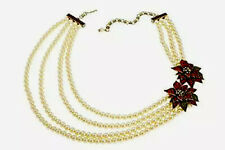 "Heidi Daus""Holiday Corsage Multi Strands Beaded Crystal Necklace Retail"