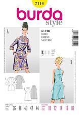 BURDA cucito MODELLO DONNA VINTAGE ANNI'60 DRESS 10 - 18 7114