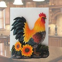 Farm Rooster on Sunflowers Kitchen Napkin Holder