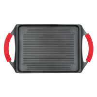 """MasterPan Series Nonstick Aluminum Grill Pan For Stove Top Oven 10x13"""" Skillet"""