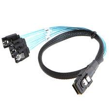 1m Mini SAS 36 PIN SFF-8087 bis 4 SATA 7 PIN HD Reverse Sata Kabel Neu