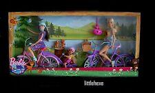 Barbie Schwestern Camping Fun Barbie+ Skipper+Chelsea mit Fahrrad  DYR28 NEU/OVP