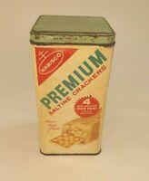 Vtg Retro 1969 Nabisco Premium Saltine Crackers Tin Patina 9: