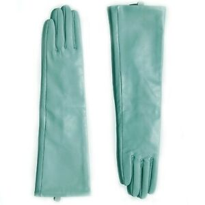 """women 40cm(15.7"""") long real sheep leather evening long gloves"""