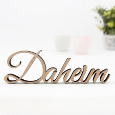 """Kleinlaut 3D-Schriftzug """"Daheim"""" 32 Farben & 3 Größen Geschenkidee Geburtstag"""