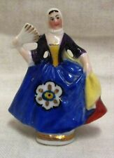 Vintage Miniature Sitzendorf Lady With Fan Figurine