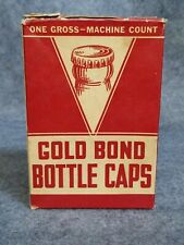 Gold Bond Bottle Caps, One Gross - Machine Count
