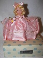 Vintage #181 Tuesday's Child Bisque Nancy Ann Storybook Doll Blue Polka Dot Box