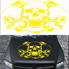 Triple Skull head Vinyl emblem sticker Decals FOR Car motor hood Cover Universal