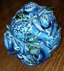 Vintage+Trinket+Cookie+Jar+w%2F+Lid+Blue+Floral