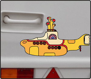The Beatles Yellow Submarine Sticker Decal Caravan Boat Vinyl Bumper Window Wall