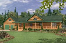 Ranch Home Plan 1750 Sq. Ft. USB Drive W/ Floor Plan Style Open Concept Porch