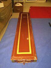 Vintage Remington & Sherman Co. Safe Deposit Box Burgundy With Pin Stripes Neat