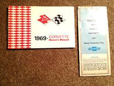 1969 Corvette Factory GM Original Owners Manual 1st Edition Set 194379S700666