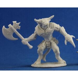 RPG Miniatures Reaper Minis Dark Heaven Bones: Bronzeheart, Minotaur Barbarian