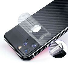3D Carbon Fiber Skin Back Cover Screen Protector Film For iPhone 11 Pro Max