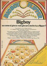 X7854 Bigboy Flipper - Pubblicità 1977 - Vintage Advertising