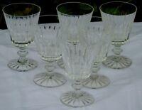 Cristallerie de Lorraine Lemberg? Service de 6 verres à eau en cristal taillé