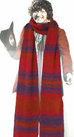 Tom Baker Doctor Who Scarf Chenille Burgundy Season 12 foot long official BBC