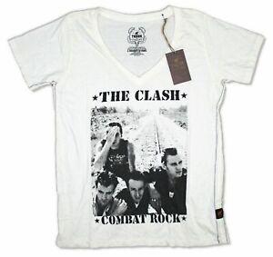 The Clash Trunk LTD Combat Rock Womens Ivory V-Neck T Shirt New Official