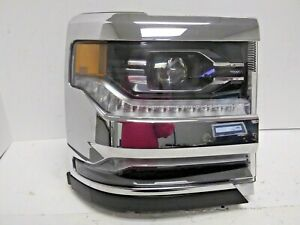 2016-2018 CHEVROLET SILVERADO 1500 RH PASSENGER SD HID LED HEAD LIGHT OEM