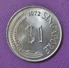 1972 Singapore $1 Stylized Lion coin