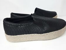Womens Midi Loafers Snakeskin Print SlipOn Flat Pumps Shoes Espadrille Size 7 41