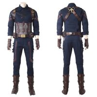 Avengers Infinity War Captain America Steve Rogers Cosplay Costume Full Set