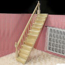 Dollhouse Hölzern Treppenhaus Treppen mit Links Fixed Guard Rail Kit vormontiert