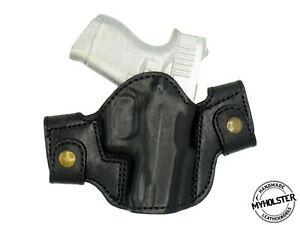 OWB Leather Side Snap-on Belt Right Hand Holster Fits GLOCK 43