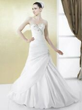 Wedding Gown-Authentic Moonlight Bridal Dress-14US/18UK-Ivory-EX Sample Mermaid