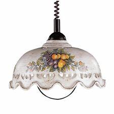 Pendelleuchte Hängeleuchte Keramik beige Fruchtmuster Küche CERAMICHE BORSO