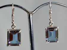 100% color change Lab Created Alexandrite 925 Solid Sterling Silver Earrings