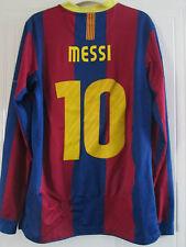 Barcelona 2010-2011 Casa Messi 10 Fútbol Camisa Manga Larga Adulto Pequeño / 39368