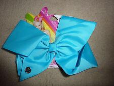 JoJo Siwa Large Bright Blue Neon Hair Bow - New
