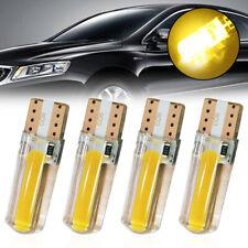 4pcs T10 194 168 W5W COB LED Car Canbus Silica Width Lights Bulbs Amber