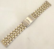 bracciale acciaio maglia breitling doppia chiusura sub dritta 22 mm orologi
