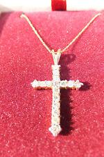 10K Yellow Gold Diamond Cross & Chain, Zales