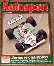 Autosport 2/10/80* CANADIAN GP - HOCKENHEIM F2 - de VILLOTA - FF2000 ROYALE TEST