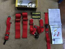 Porsche Schroth Red Seat Belt 6 Point Harness (x1) Porsche Cayman GT4 FIA APP