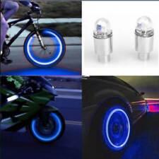 2 LED Flash Light Lamp Bike Bicycle Car Tire Tyre Wheel Rim Valve Sealing Cap US