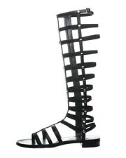 Stuart Weitzman 235126 Women's Black Leather Gladiator Sandals sz. 8.5 M