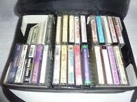 Vtg Lot Of 27 Country Music Cassette Tapes Country Gospel Christmas & Case  S-49