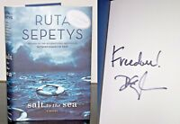 Salt to the Sea by Ruta Sepetys SIGNED Book First Edition 1st Print Hardcover DJ
