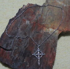"James Avery Retired 925 Moonstone Large Celtic Cross Pendant & 22"" Long Chain"