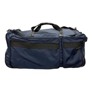 Briggs & Riley Extra Large Wheeled Duffle Weekender Suitcase Nylon Navy Black