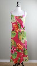 GIANFRANCO FERRE Red Vintage 100% Silk Draped Midi Cami Dress Size US 20